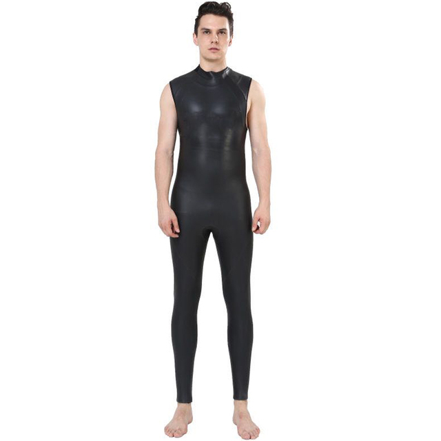 5978779e14 US $129.99 |REALON 5mm Neoprene Mens Triathlon Wetsuit Smoothskin  Snorkeling Surfing Swimming Sleeveless Scuba Diving Suits Jumpsuit-in  Surfing & ...