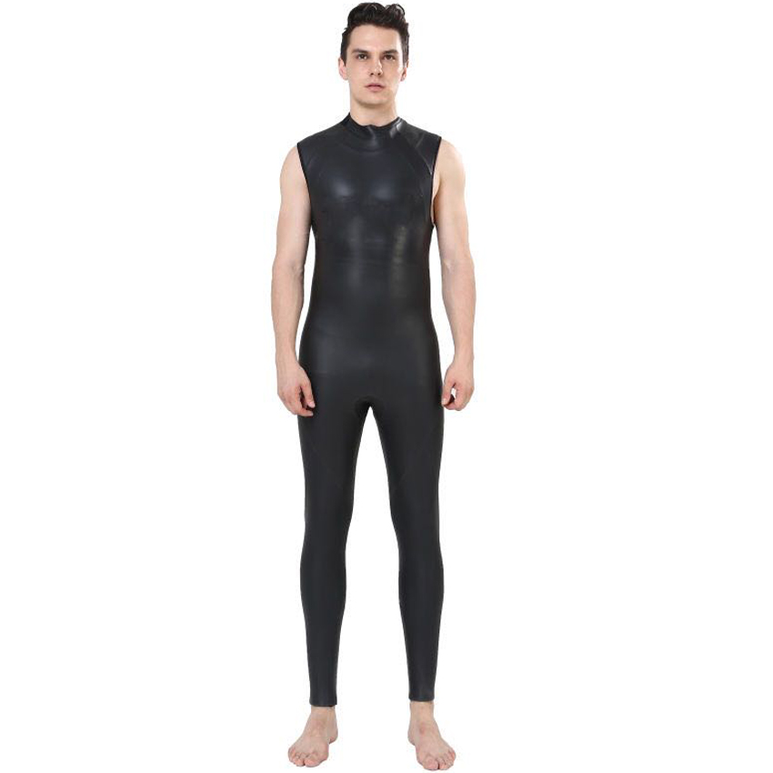 REALON 5mm Sleeveless Wetsuit Vest Neoprene Mens Triathlon Scuba Diving Swimwear Kite Surfing Spearfishing Snorkeling Rash Guard