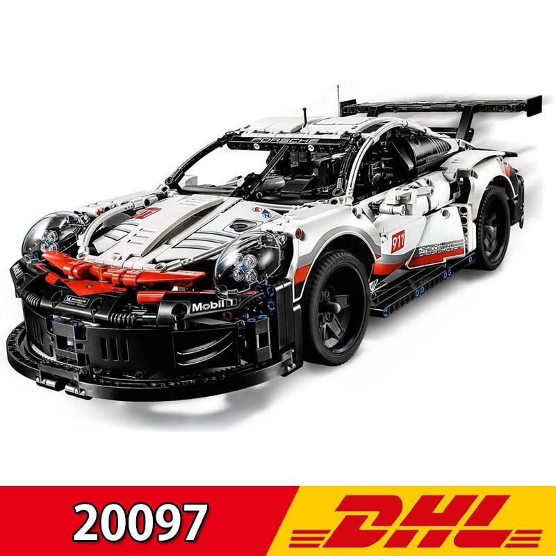 Nouveau technic série Supercar Legoing 42096 Lepining 20097 1770 pièces 911 RSR voiture blocs de construction briques jouet enfants cadeau