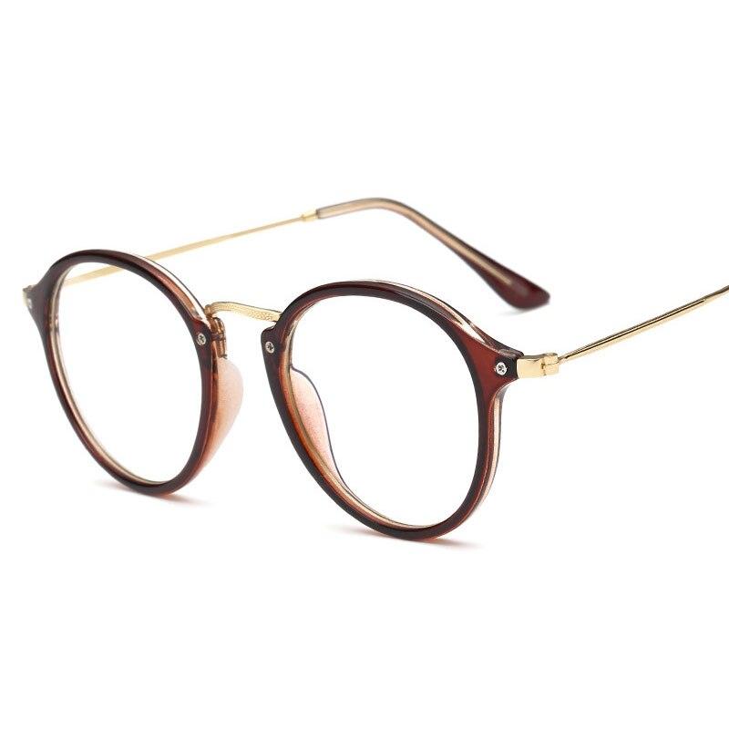 Anti Blue Ray Femmes Informatiques Lunettes Pour Hommes Transparent Lunettes  Ronde Monture De lunettes De Mode Oculos De Grau Femelle Revêtement dans ... a11b2c0c4c8c