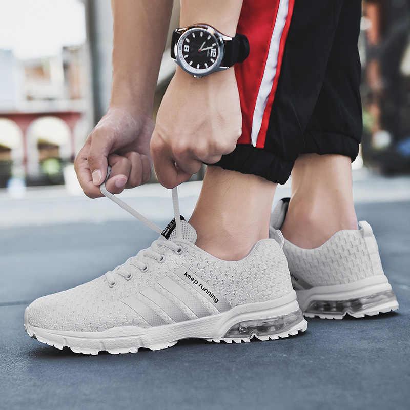 2019 популярная мужская обувь повседневные белые кроссовки мужские Tenis Masculino Adulto мужские кроссовки Сникеры на воздушной подушке для отдыха синие мужские туфли