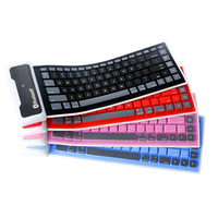 Centechia Universal Foldable Waterproof Silicone Wireless Bluetooth Keyboard For Tablet Laptop PC EM88