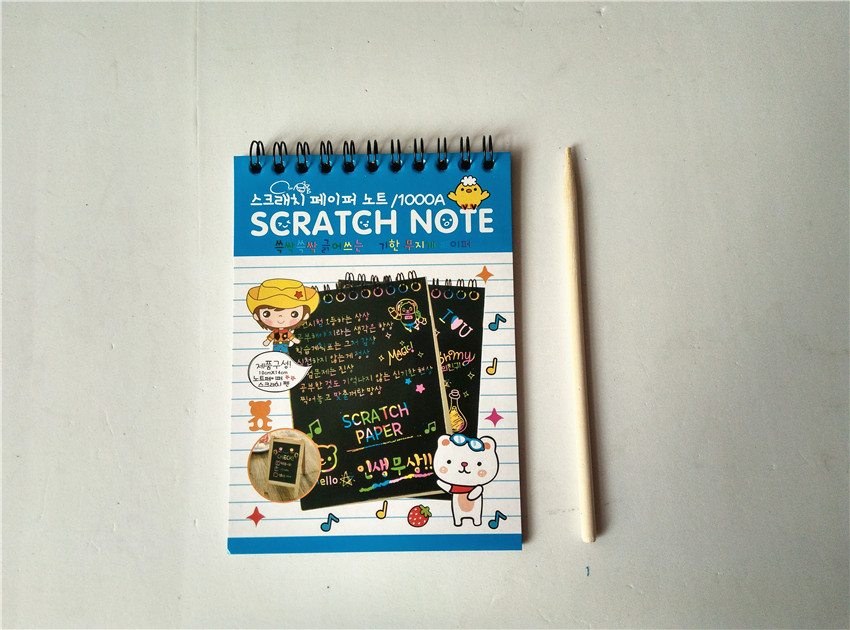 4-Setslot-1410cm-Magic-Scratch-Art-Note-book-Scraping-Drawing-Toys-Children-Baby-Doodle-Educational-2