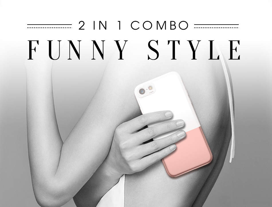 FLOVEME Fashion Contrast Hybrid Phone Cases For iPhone 6 7 6S Plus Higher Camera Protection Hard Hit Color Cover For iPhone 6 7 (3)