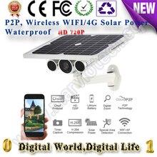 720P 2x12AH wireless solar power ip camera wifi sim card 4G LTE starlight H 264 Waterproof