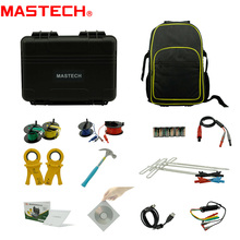 MasTech MS2308 2/3/4 Pole Double Clamps Earth Ground Resistance Tester Meter Soil Resistivity RK Wire Compensation Tester USB