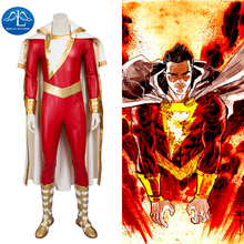 MANLUYUNXIAO New Men s Captain Marvel Shazam Cosplay Costume Deluxe Outfit Halloween Carnival Costumes For Men