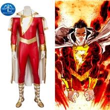 MANLUYUNXIAO New Men s Captain Marvel Shazam Cosplay Costume Deluxe Outfit Halloween Costumes For Men Men