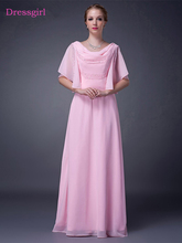 Pink 2018 Mother Of The Bride font b Dresses b font A line Half Sleeves Chiffon