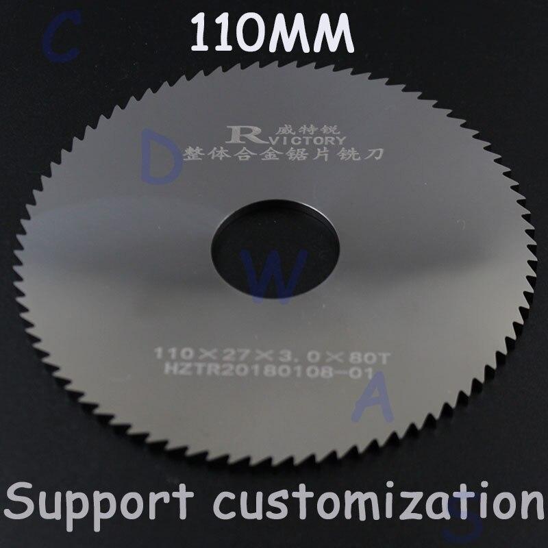 2 pcs 110mm HSS Lame de Scie Circulaire Pour Outil Rotatif Pour Le Métal Coupe Outil Électrique Bois Disques De Coupe Foret Mandrin 0.8-1.8
