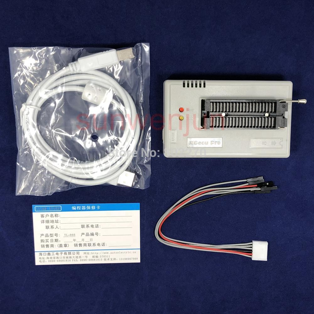 Black Edition V8 51 XGecu TL866II Plus USB Programmer support 15000 IC SPI Flash NAND EEPROM