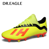 Dr.eagle Big Size 36 45 Outdoor fotball FG Boys Kids Long Spiked Centipede Soccer Shoes For Man Football Boots Cleats