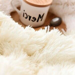 Image 5 - Супер мягкое ворсовое меховое одеяло, плюшевое декоративное одеяло 130*160 см/160*200 см, зимнее одеяло для кровати, дивана, одеяло