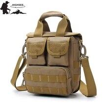 HIGHSEE Tactical Messenge Bag Man Army Military Shoulder Bag Military Backpack Hunting Rucksack Hiking Men Army Tactical Bag