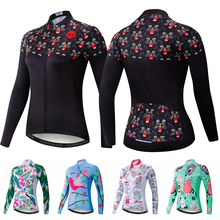 ef255addd Cycling Jerseys Women Long Sleeve Mountain Road Bike Bicycle Clothing  Clothes MTB Shirt Top Racing Ropa