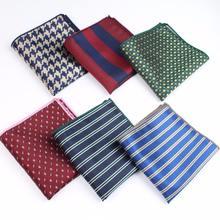 Men Suits Polyester Designer Handkerchiefs Woven Printing Pocket Square Hankies Business Casual Pockets Hanky No.21-40