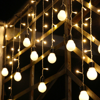 1 5 0 5m LED Ball Curtain String Lights Fairy Wedding Room Decoration Garland New Year