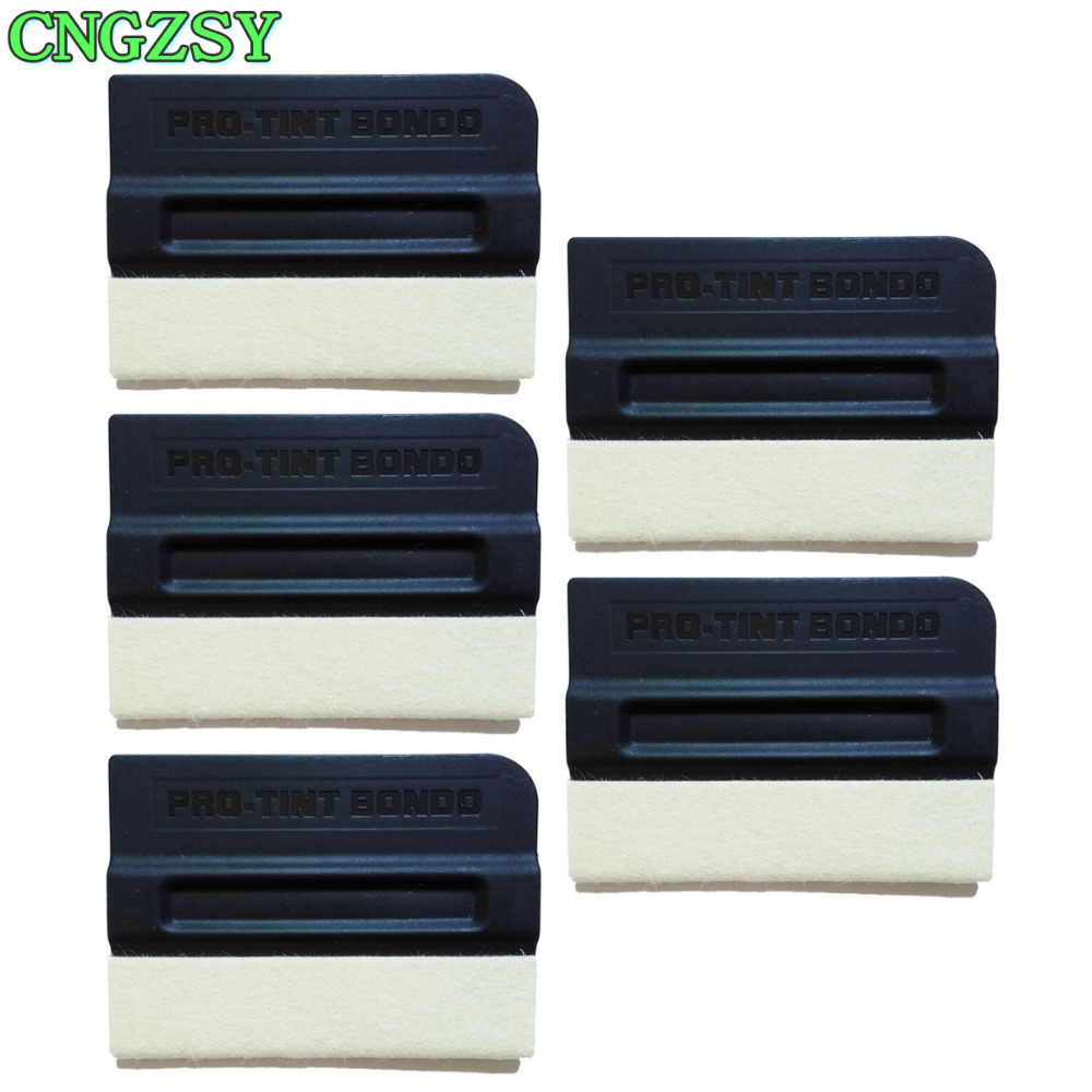 5pcs wool magnet squeegee for car solar protection film air bubble remover scraper auto covers sticker multi hand tools 5A09