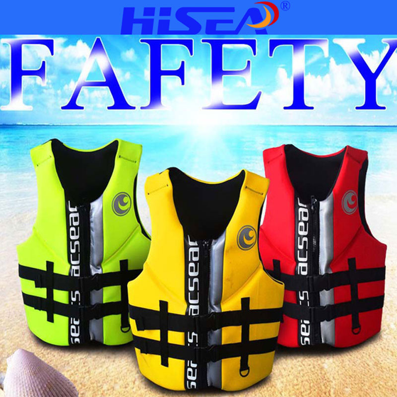 все цены на HISEA Adult Adjustable Life Jacket Outdoor Safety Life Vest for fishing Swimming Drifting Surfing Jacket Professional 4 Colors Q