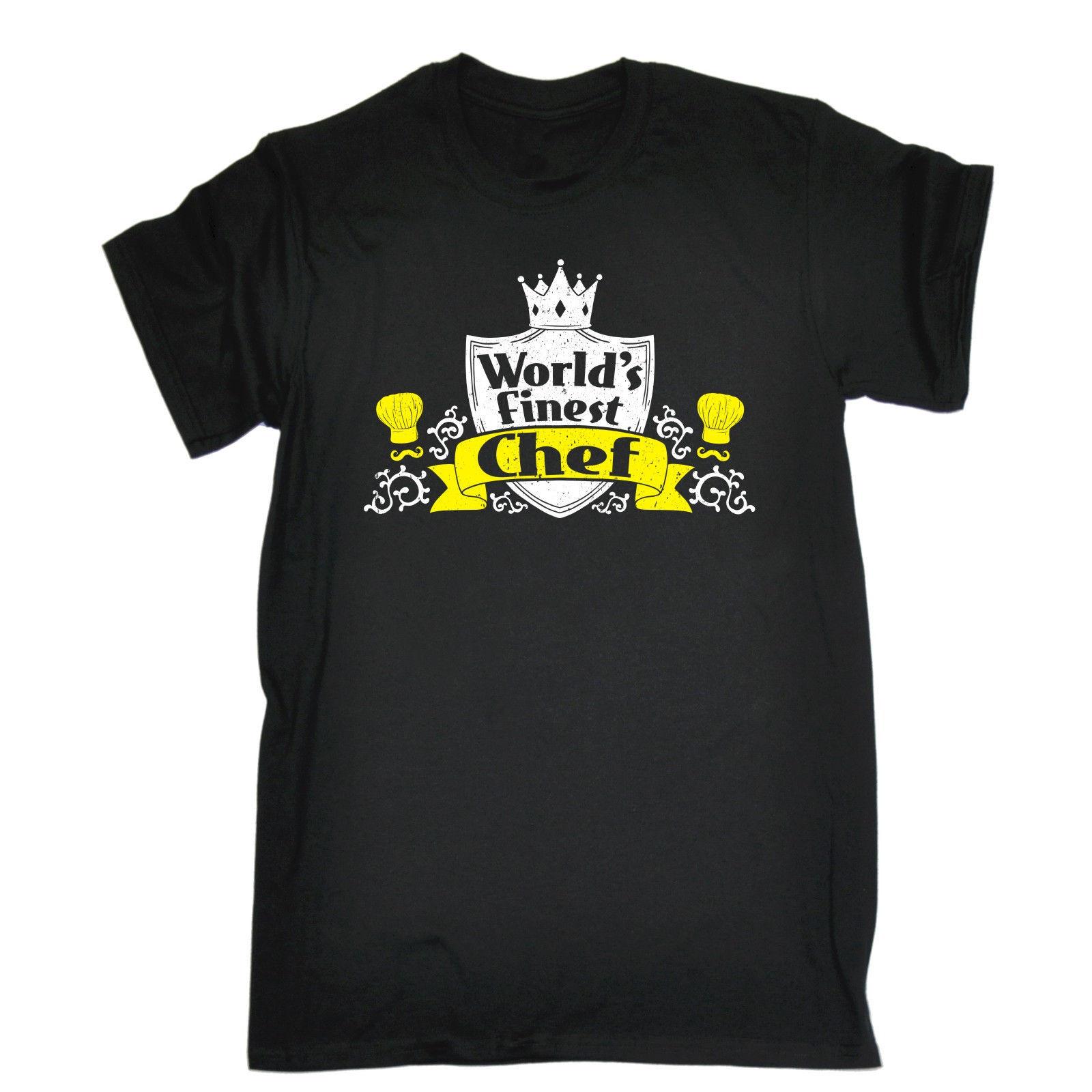 Masterchef apron (white) official merchandise - Worlds Finest Chef T Shirt Tee Cook Mum Dad Master Kitchen Funny Birthday Gift Short