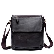 цена Messenger Bag Men's Genuine Leather Men Bag Messenger Shoulder Bags Small man Crossbody Bags men leather handbags 819 онлайн в 2017 году