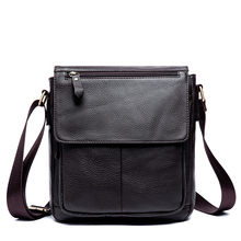 Messenger Bag Men's Genuine Leather Men Bag Messenger Shoulder Bags Small man Crossbody Bags men leather handbags 819 недорого