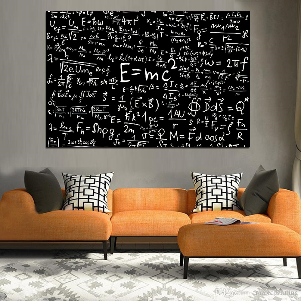 Scientist Albert Einstein chemical physics infographic Silk poster wall pictures for living room No Frame image