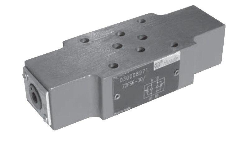 Hydraulic valve Z2FS6-30B double throttle check valve flow valve stack valve ampeg micro cl stack