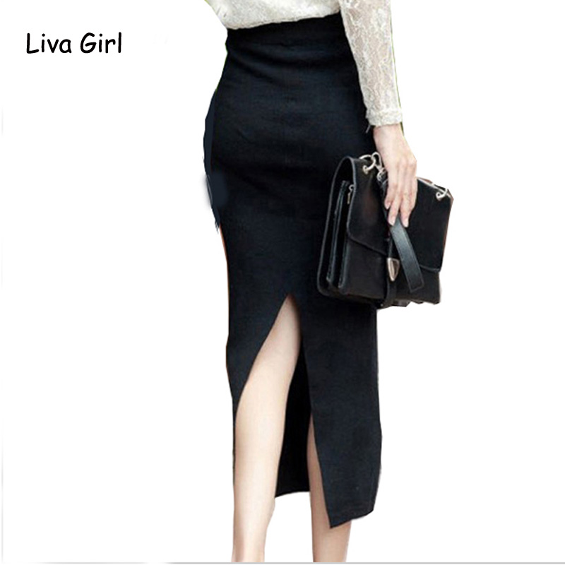 Compare Prices on Long Stretch Pencil Skirt- Online Shopping/Buy ...