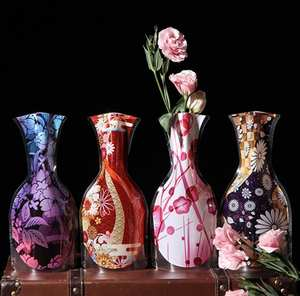 Flower-Vase Decorative-Product Unbreakable Foldable Plastic Household Home PVC SN1118