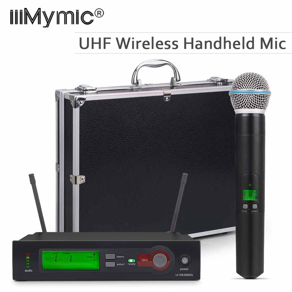 With A Aluminum Case For Stage!! UHF PRO WIRELESS MICROPHONE SYSTEM SLX24 BETA58 Single Handheld Cordless MIC For KTV Karaoke DJ