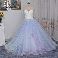 2017 Sweetheart Neckline Đa Màu Váy Bóng Gowns Wedding Dress Puffy Royal Bridal Gowns Chất Lượng Cao vestido de noiva curto