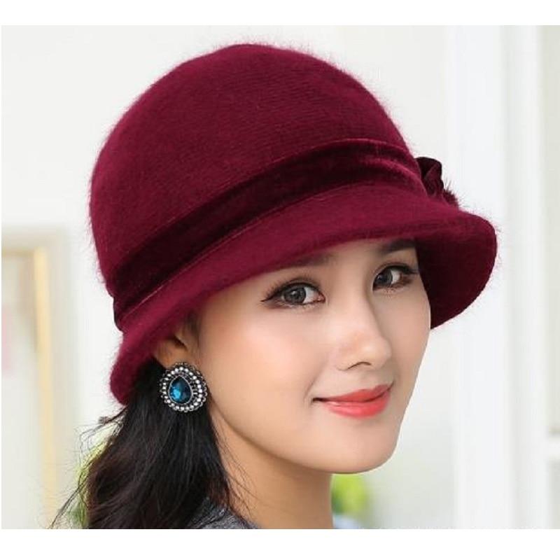 Nueva Moda Mujeres Sombrero de Invierno Conjuntos Floral Skullies - Accesorios para la ropa - foto 3