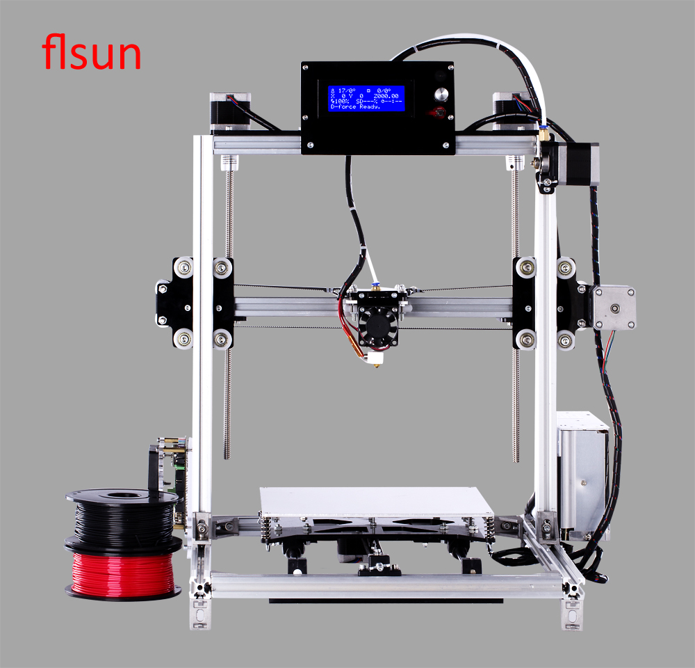 2017 New Metal Prusa i3 3d Printer Kit 3d printer for sale With 2 Rolls Filament