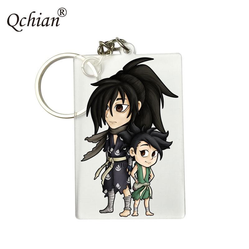 2019 Japan Anime Dororo Hyakkimaru Yukata Keyring Acrylic Keychain Charm Keyring Phone Pendant Decor Xmas Gifts free shipping