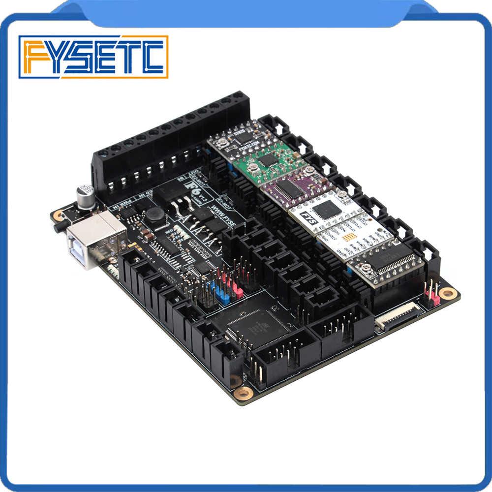 FYSETC F6 V1.3 Board Mainboard + 6pcs TMC2100/TMC2208 v1.2/TMC2130 v1.2/DRV8825/S109/A4988/ST820 VS SKR V1.3