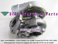 Free Ship K04 53049880001 53049700001 Turbo Turbocharger For FORD Transit IV FT190 2.5L Di 91 09 FT 190 AGA 4EC 4EB 4EA 4GB 4GC|Air Intakes|Automobiles & Motorcycles -