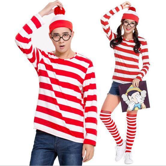 halloween costumes for women Whereu0027s Wally Wenda Family Men Womens Kids New Fancy Dress Costume Size S-2XL  sc 1 st  Aliexpress & Online Shop halloween costumes for women Whereu0027s Wally Wenda Family ...