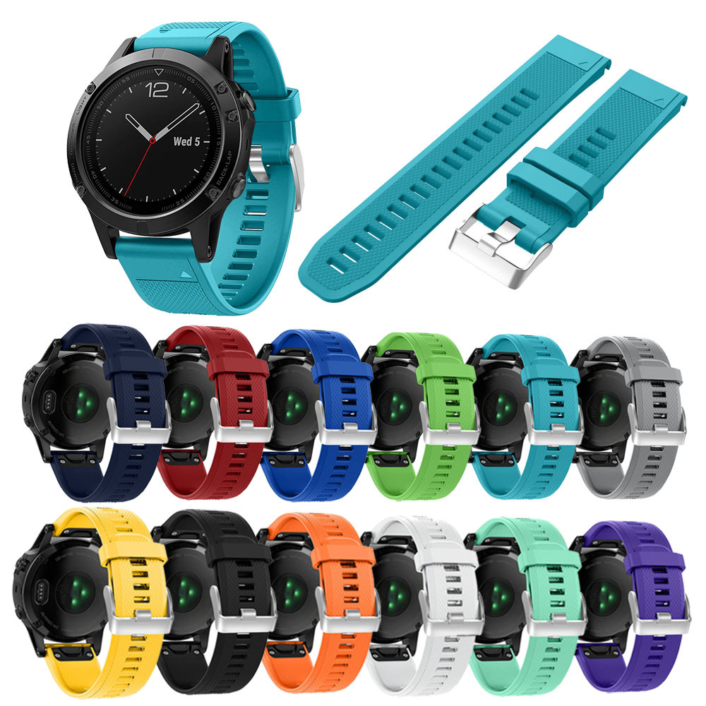 22MM Watch band Replacement Watchband Quick Install Soft Silicone Band Strap For Garmin Fenix 5 GPS Correa