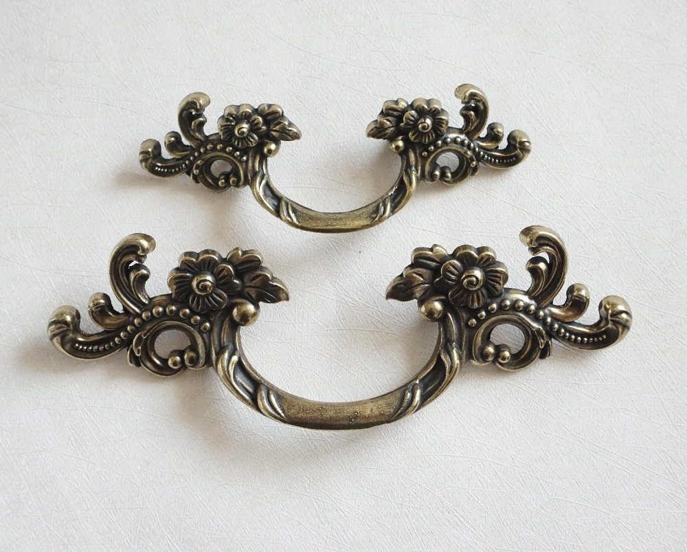1.75 2.5 Dresser/Drawer Pull Handles Antique Bronze Unique Furniture Handle Cabinet Door Knobs Pull Handle Decorative 44 64 european modern bronze doors handle chinese antique glass door handle door handle carving