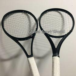 2016 новые высококачественные теннисные ракетки, 100% графитовые, 2015 теннисные ракетки, полностью черные 41/4, 43/8, 41/2, бесплатная доставка