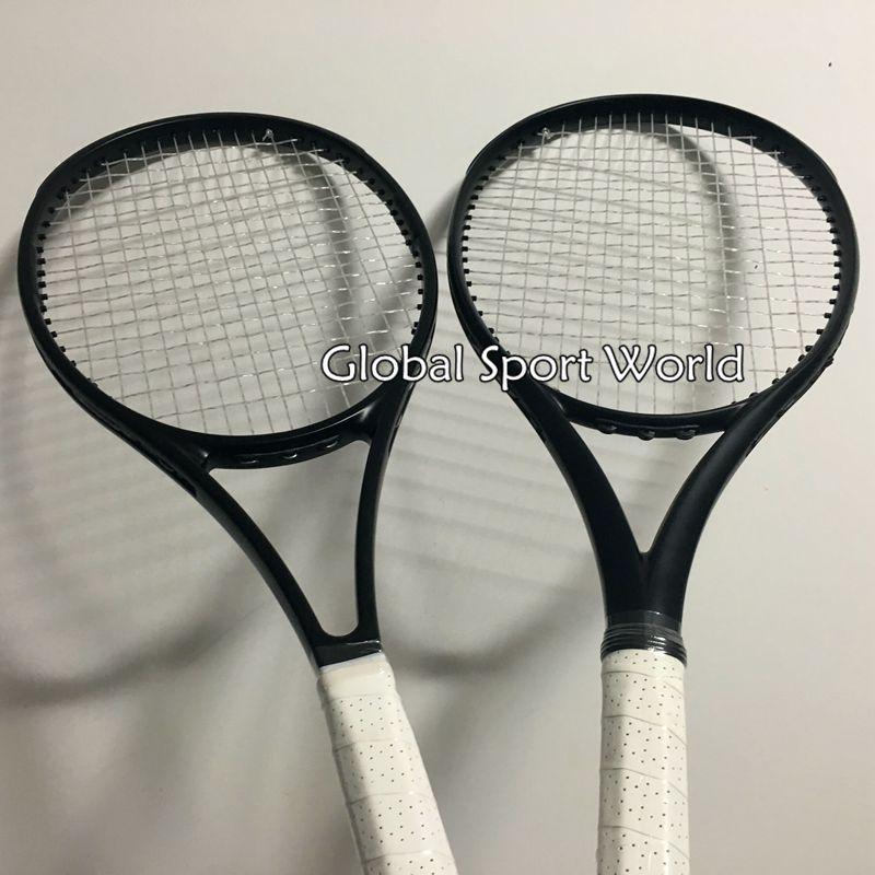 2016 NOVO de Alta qualidade costumes 2015 raquetes de tênis Raquetes de tênis 100% grafite preto Completo 41/4, 43/8, 41/2 Frete grátis