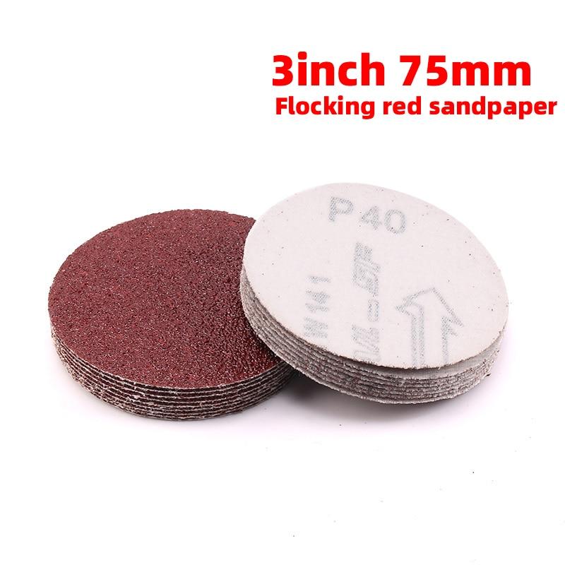 1Pcs 3 Inch 75MM Round Sandpaper Disk Sand Sheets Grit 40-2000 For Choose Hook And Loop Sanding Disc Sander Grits Dry Grinding