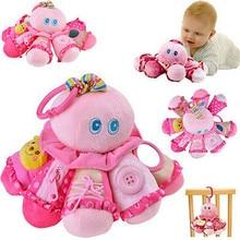 Hot sell Animal Handbells Musical Developmental Toy Bed Bells Kids Baby Soft Toys Rattle