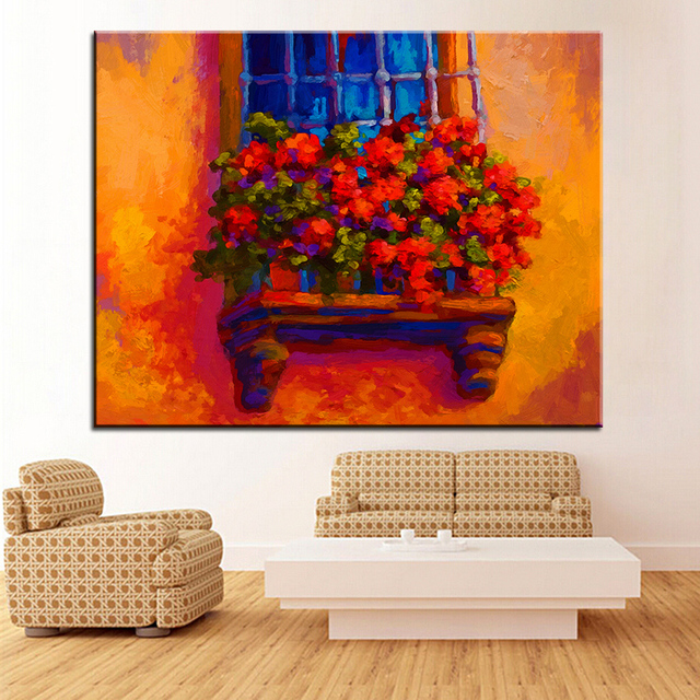 Us 18 99 Large Size Printing Oil Painting Window Box Wall Painting Steampunk Wall Art Picture For Living Room Painting No Frame In Painting