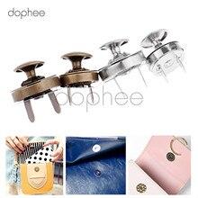 Dophee 10 шт. 14/18 мм магнитной застежкой заклепки шпилька застежка Пуговицы застежка 2 цвета набор «сделай сам» для дамских бумажников сумки для одежды