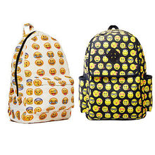 2015 Boys Girls Smiley Fangirl Emoji Backpack Funny Satchel Shoulder School Bag Women's Backpacks For Teenage Girls School Bags