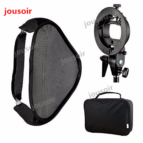 Godox 40 x 40cm Softbox Diffuser with S-type Bracket Bowens Holder for Speedlite Flash Light CD50 image