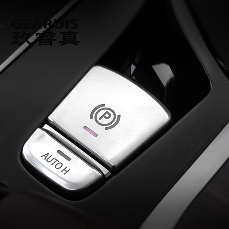 Car Styling for BMW 5 Series G30 G38 528i 530i 540i Parking Brake Button Cover Auto Hold Button Decorative Sticker Accessories