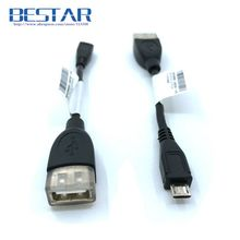 High Quality OTG Micro USB 2.0 Male to USB 2.0 Female OTG HOST Connector Cable 10cm usb micro usb 5pin Adapter converter
